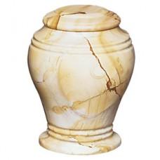 Teak Bell Jar Marble Cremation Urn