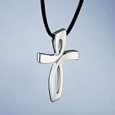 Nambe Sterling Silver Cross Cremation Keepsake Jewelry