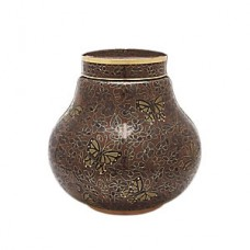 Amber Butterfly Cloisonne Cremation Urn