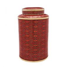 Red Rosette Cloisonne Cremation Urn