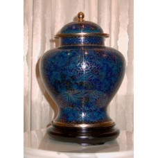 Blue Dynasty Cloisonne Cremation Urn