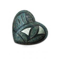 Emerald Anasazi Cloisonne Keepsake Heart Cremation Urn