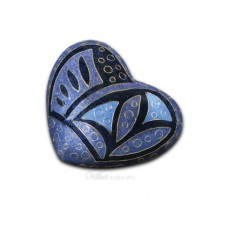 Lapis Anasazi Cloisonne Keepake Heart Cremation Urn