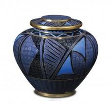 Lapis Anasazi Cloisonne Cremation Urn