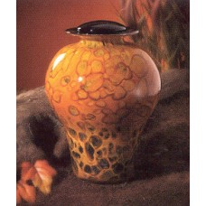 Autumn Glass Urn