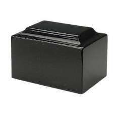Charcoal Black Marble Cremation Urn