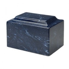 Navy Blue Synthetic Marble Cremation Urn