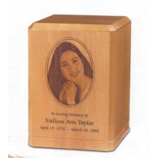 Custom Image Maple Cremation Urn