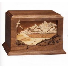Footprints Walnut Cremation Urn