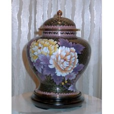 Gold Dynasty Cloisonne Cremation Urn
