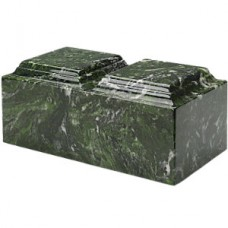 Meadow Green Companion Synthetic Marble Cremation Urn