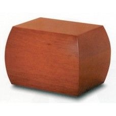 Honey Brown Hardwood Cremation Urn