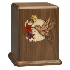 Hummingbird Walnut Cremation Urn