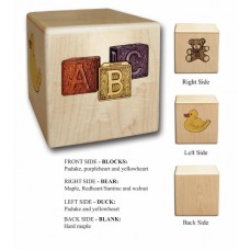 Maple Cube Infant Cremation Urn