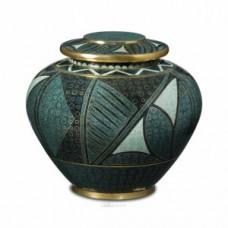 Emerald Anasazi Cloisonne Cremation Urn