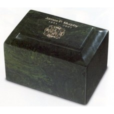 Meadow Green Cultured Marble Cremation Urn