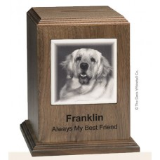 Walnut Pet Cremation Urn 150