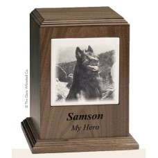 Walnut Pet Cremation Urn 80