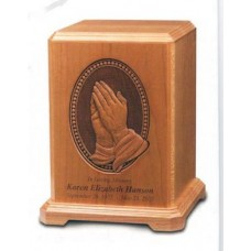 Praying Hands Cherry Cremation Urn