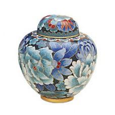 Royal Blue Cloisonne Keepsake Cremation Urn