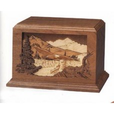 Soaring Eagle Walnut Cremation Urn