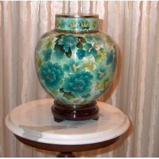 Spring Elegance Cloisonne Cremation Urn