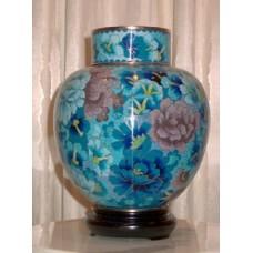 Summer Elegance Cloisonne Cremation Urn