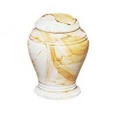 Teak Marble Keepsake Cremation Urn