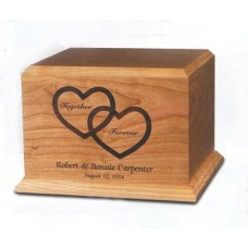 Together Forever Cherry Cremation Urn